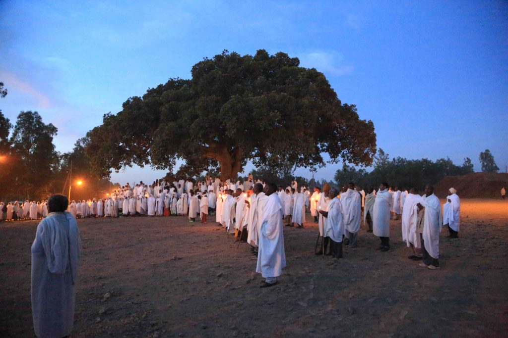 End of the dawn procession
