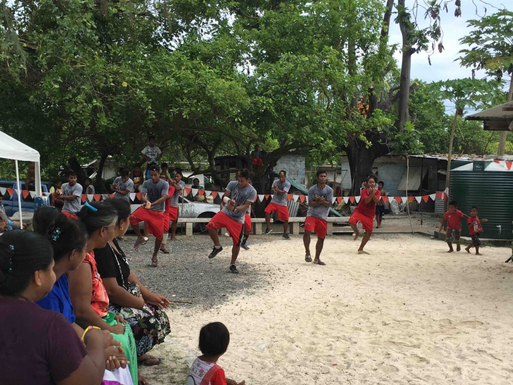 Kids doing Gangnam Kiribati style
