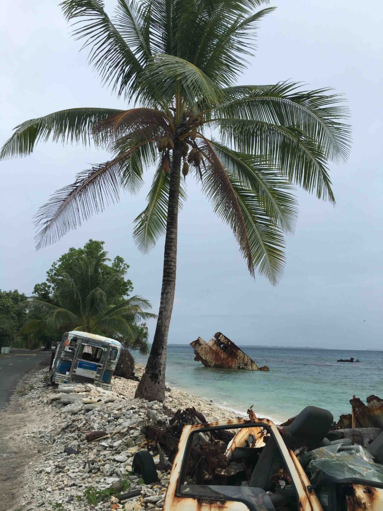 The 'highway' to the edge of the atoll