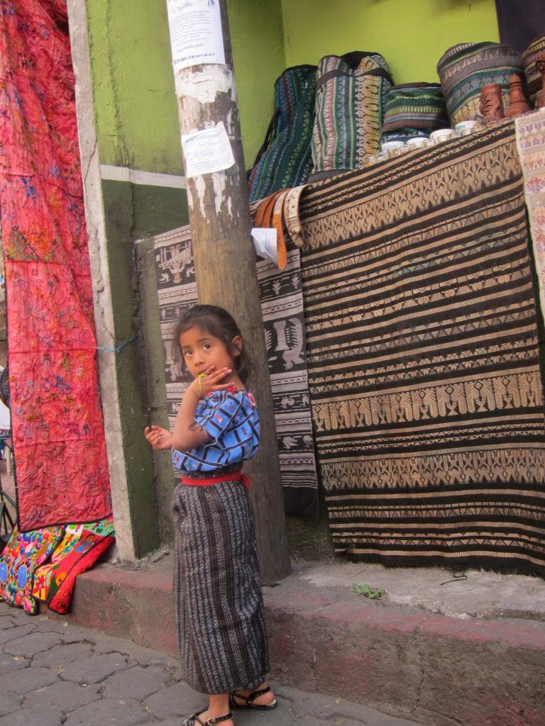 Girl in the street in San Pedro