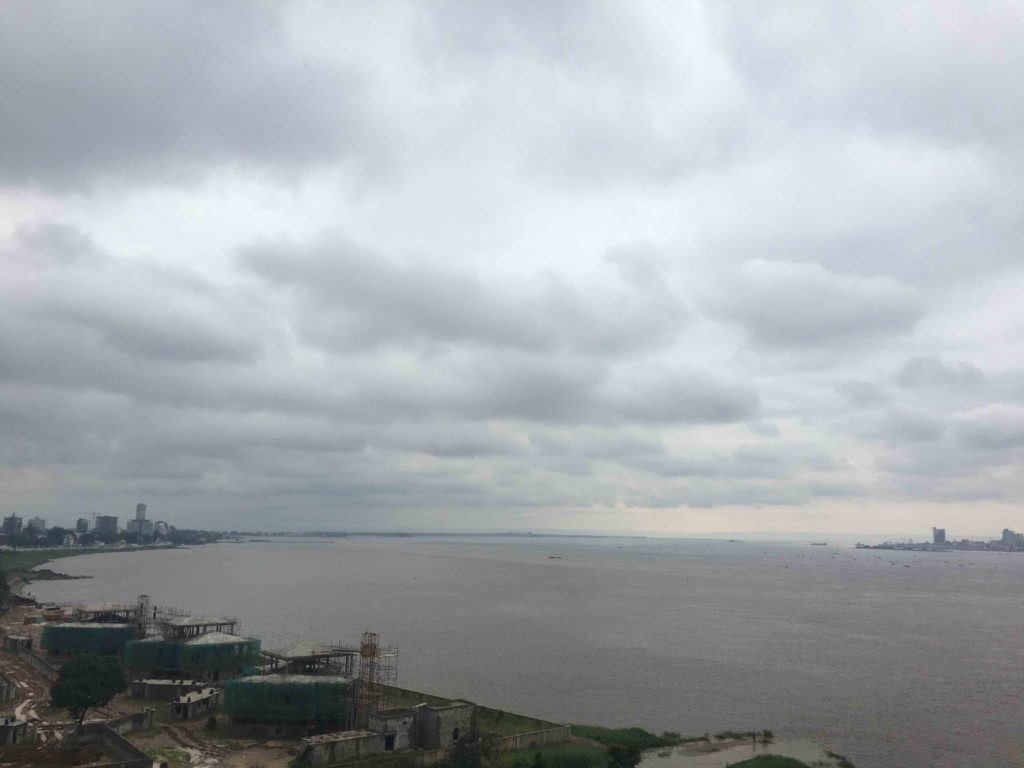 View of Kinshasa on the right and Brazzaville on the Left