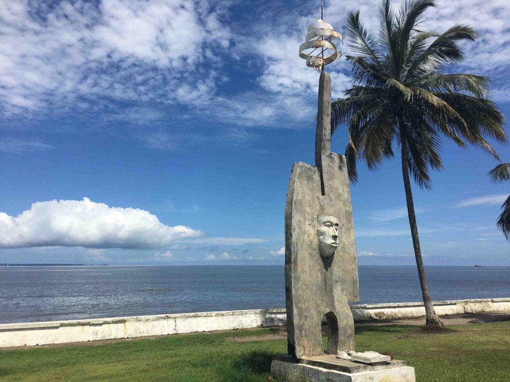 Beachfront sculpture