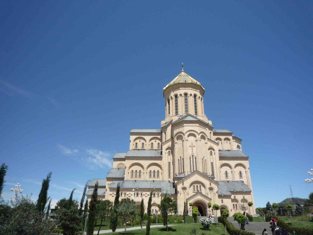 The new Tsminda Sameba in Tbilisi