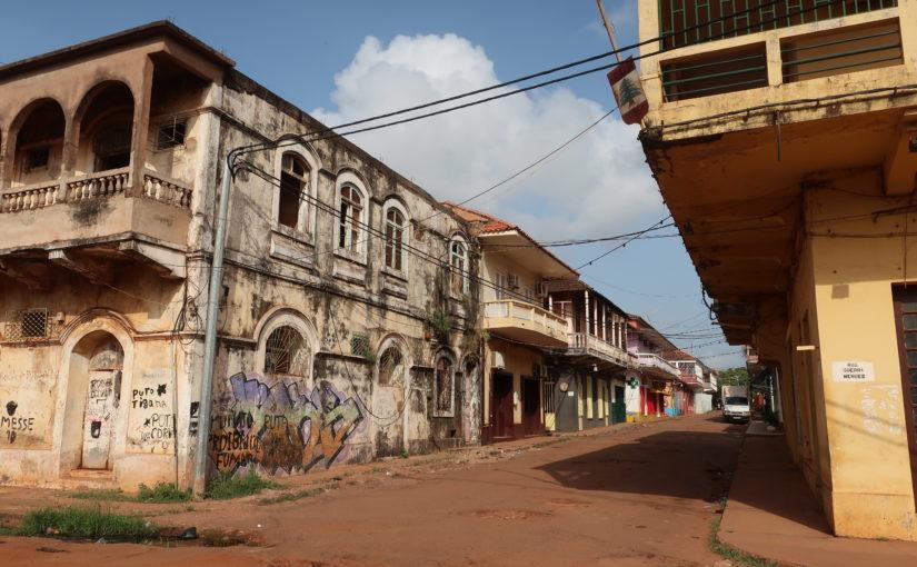 Bullet holes in Bissau